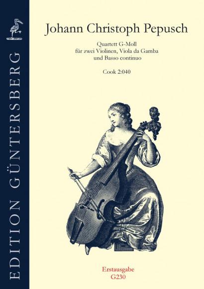Pepusch, Johann Christoph (1667–1752): Quartett g-Moll