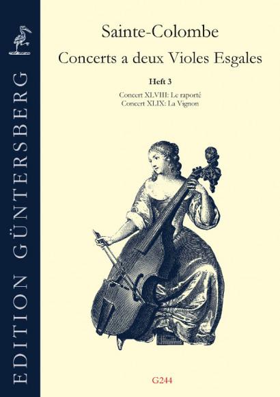 Saint-Colombe (17. Jh.): Concerts a deux Violes Esgales<br>- Band III