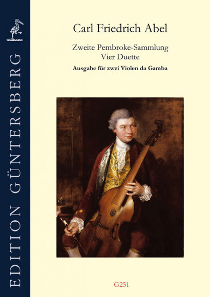 Abel, Carl Friedrich (1732–1787): Die 2. Pembroke-Sammlung<br>– Transcription for 2 Gambas