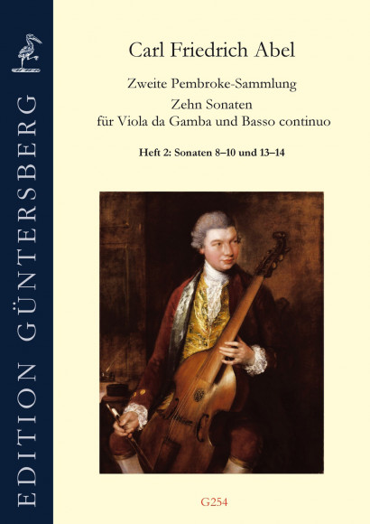 Abel, Carl Friedrich (1732–1787): Die 2. Pembroke-Sammlung<br>– Solo-Sonaten 8–10 & 13–14