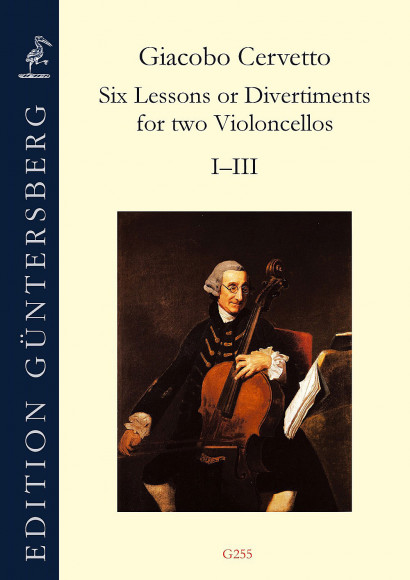 Cervetto, Giacobo (1682–1783): Six Lessons or Divertiments op. 4<br>– Lessons I–III