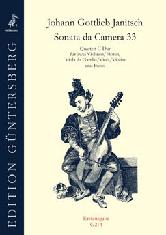 Janitsch, Johann Gottlieb (1708–~1763): Sonate da Camera 33