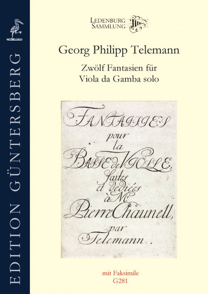 Telemann, Georg Philipp (1681–1767): Twelve Fantasias for Viola da Gamba solo TWV 40: 26–37