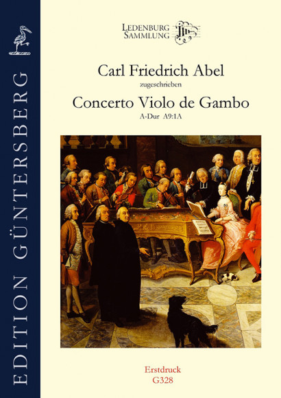 Abel, Carl Friedrich (1723–1787):  Concerto Violo de Gambo A major