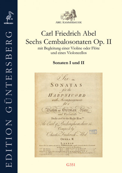 Abel, Carl Friedrich (1732–1787): Six Sonatas for harpsichord op. 2<br>Sonatas I–II