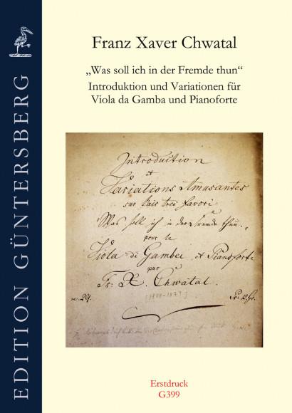 Chwatal, Franz X. (1808–1879): Introduktion und Variationen