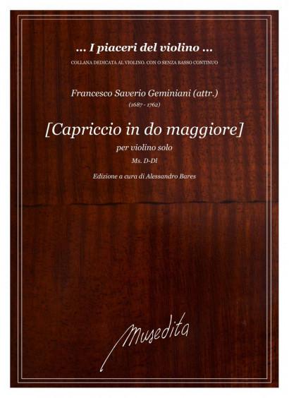 Geminiani (attr.), Francesco (1687–1762): Capriccio in do maggiore