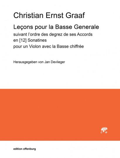 Graaf, Christian Ernst (1723–1804): Lecons pour la Basse Generale
