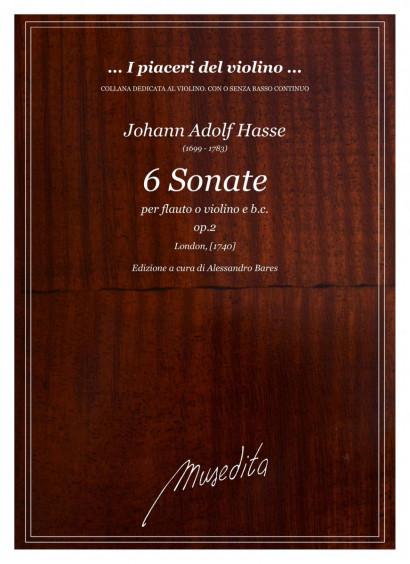 Hasse, Johann A. (1699–1783): 6 Sonatas op. 2