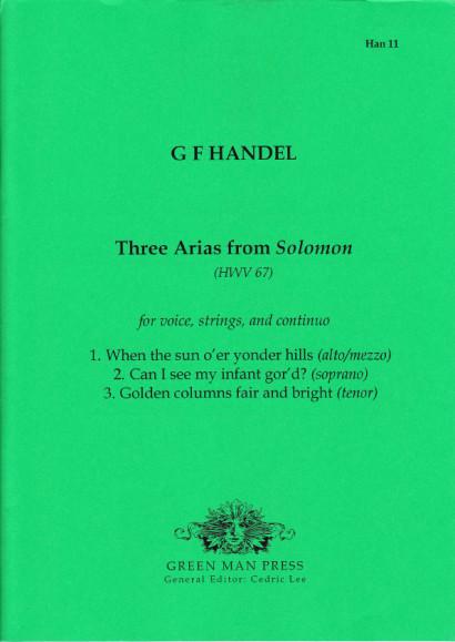 Händel, Georg Friedrich (1685- 1759): Drei Arien aus Solomon