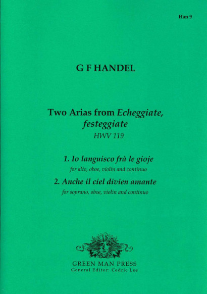 Händel, Georg Friedrich (1685-1759): Two Arias from Echeggiate festeggiate HWV 119