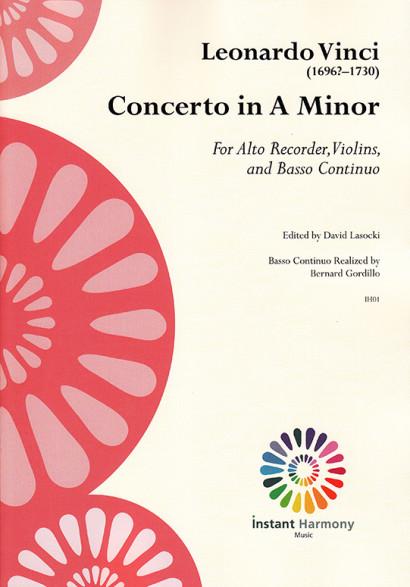 Vinci, Leonardo (~1696–1730): Concerto A Minor