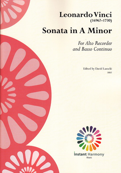 Vinci, Leonardo (~1696–1730):Sonate a-moll