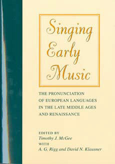 McGee, Timothy: Singing Early Music