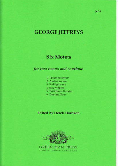 Jeffreys, George (?–1685): Six Motets