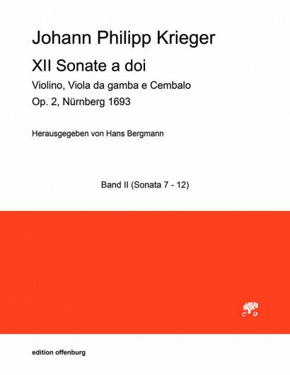 Krieger, Johann Philipp (1649–1725): XII Sonate a doi op. 2 – Sonaten VII–XII