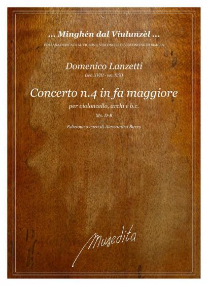 Lanzetti, Domenico (18.–19. century): Concerto No. 4 in fa maggiore<br>Score and parts