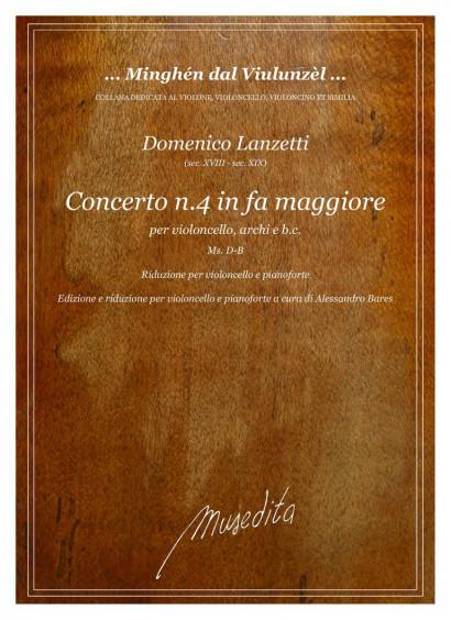 Lanzetti, Domenico (18.–19. century): Concerto No. 4 in fa maggiore<br>Piano reduction with solo part