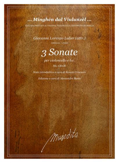 Lulier (attr.), Giovanni Lorenzo (ca. 1662–1700): 3 Sonate