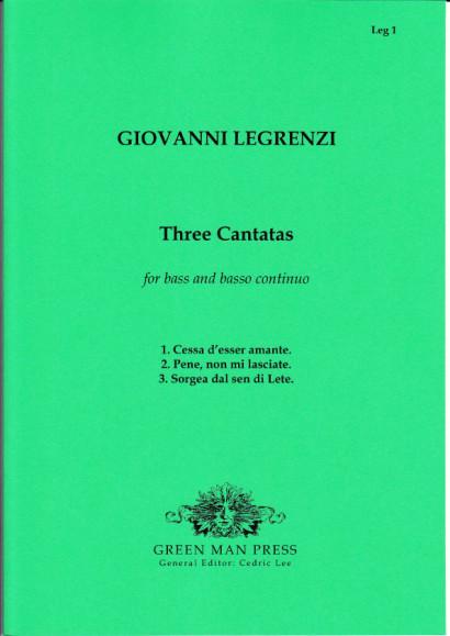 Legrenzi, Giovanni (~1626-1690): Drei Kantaten für Solo-Baß