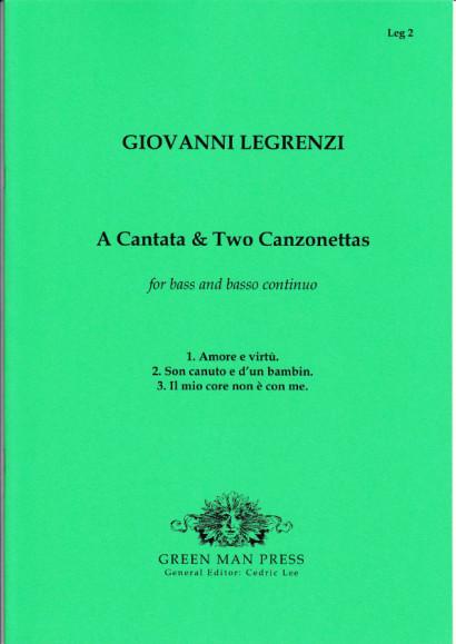 Legrenzi, Giovanni (~1626-1690): Kantate & zwei Kanzonetten für Solo-Baß