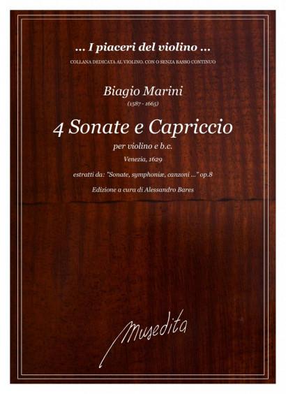 Marini, Biagio (1587–1665): 4 Sonate e 1 Capriccio