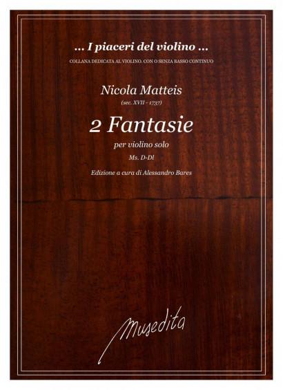 Matteis, Nicola (?–1737): 2 Fantasie