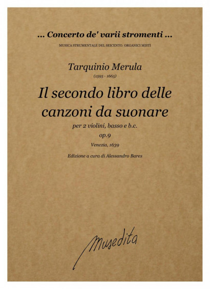 Merula, Tarquinio (1595–1665): Il secondo libro delle canzoni op. 9