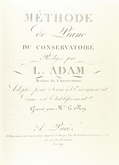 ADAM, Louis (1758–1848): Méthode de piano
