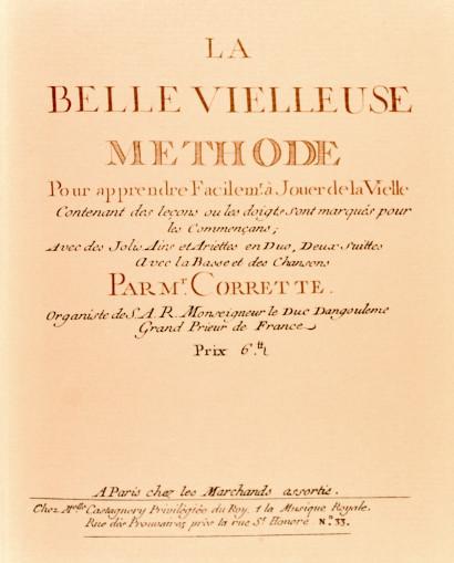 CORRETTE, Michel (1709–1795): La belle vielleuse