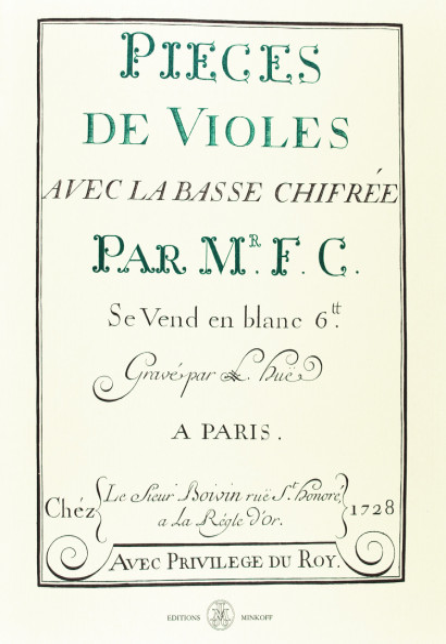 COUPERIN, François (1668–1733): Pièces de violes