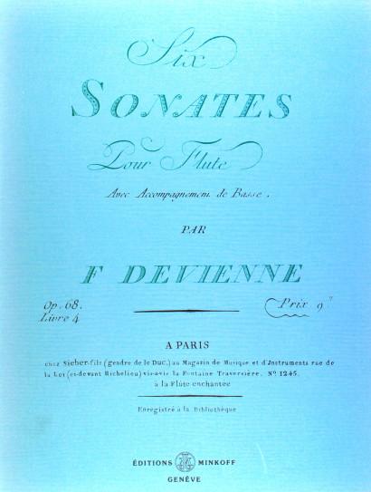 DEVIENNE, François (1759–1803): Six sonates pour flûte