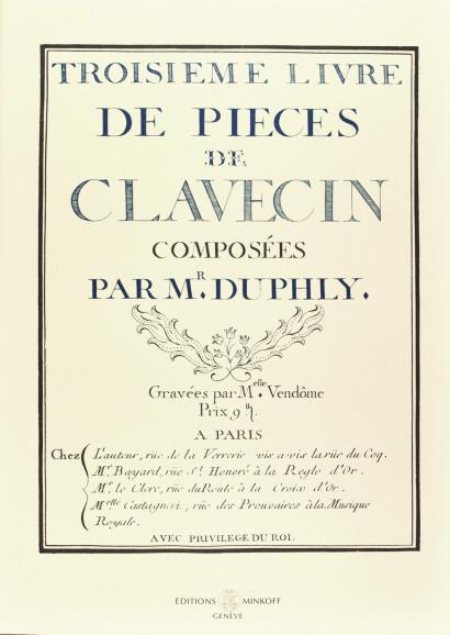 DUPHLY, Jacques (1715–1789): Troisième livre