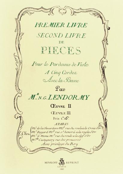 LENDORMY, N.-G. (18th. c.) Premier [-second] livre de pièces