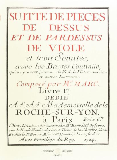 MARC, Thomas (fl.1720-1735): Suitte de pièces