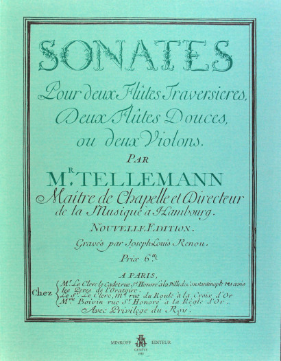 TELEMANN, Georg Philipp (1681–1767): Sonates