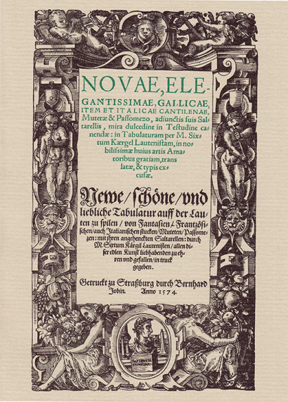 Kargel, Sixt ( c.1540–?): Novae, elegantissimae, gallicae