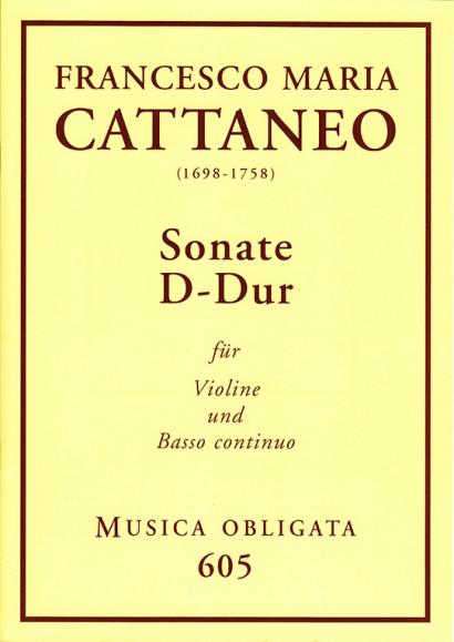Cattaneo, Francesco Maria (1698-1758): Violin-Sonaten<br>- Sonata D major
