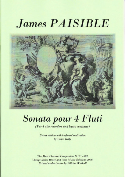 Paisible, James (1656-?1721): Sonata pour 4 Flauti