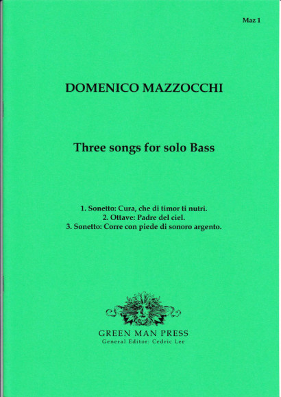 Mazocchi, Domenico (1592-1665): Three songs