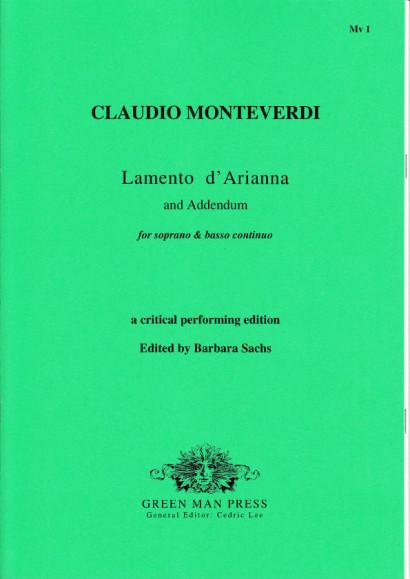 Monteverdi, Claudio  (1567-1643): Lamento d'Arianna