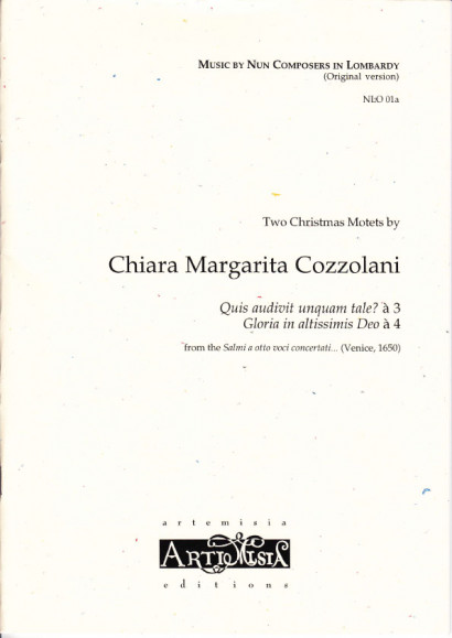 Cozzolani, Chiara Margarita (1602-~1677): Zwei Weihnachtsmotetten<br>- original version for mixed choir
