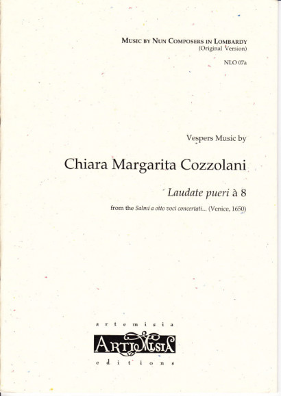 Cozzolani, Chiara Margarita (1602-~1677): Laudate pueri<br>- original version for mixed choir