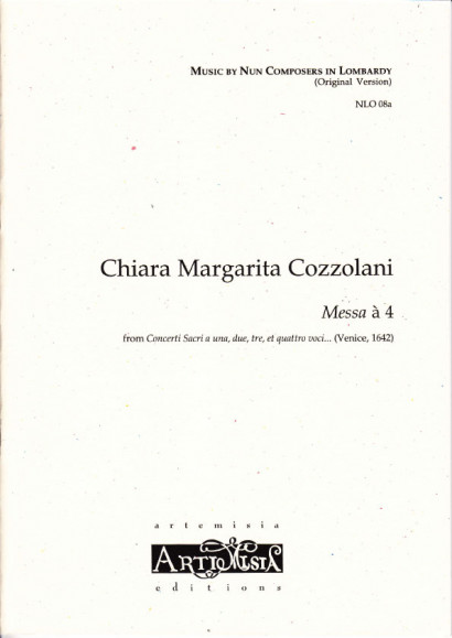Cozzolani, Chiara Margarita (1602-~1677): Messa à 4<br>- Originalausgabe für gem. Chor