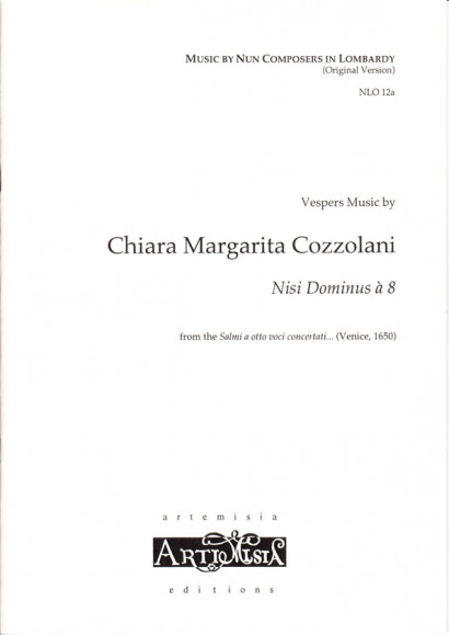 Cozzolani, Chiara Margarita (1602–~1677): Nisi Dominus à 8<br>- Originalausgabe für gemischten Chor