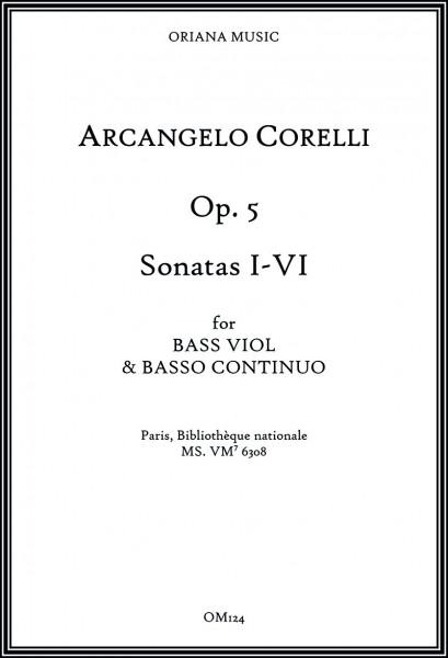 Corelli, Arcangelo (1653–1713):<br>Sonaten op. 5 – Sonaten I–VI