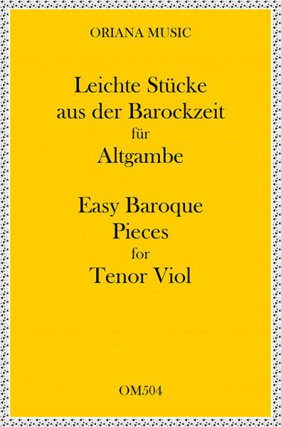 Leichte Stücke aus der Barockzeit für Altgambe<br>(Violinschlüssel)