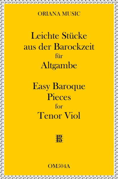 Easy Baroque Pieces for Tenor Viol<br>(alto clef)
