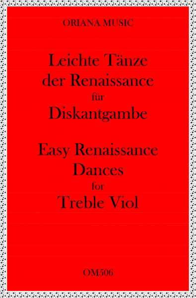 Easy Renaissance Dances for 2 Treble Viols