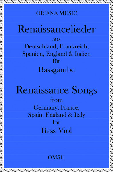 Renaissance Songs for 2 Bass Viols (Easy)